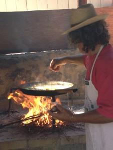 doing the omelet